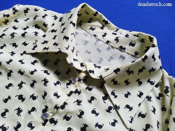Camisa com estampa de gatinhos