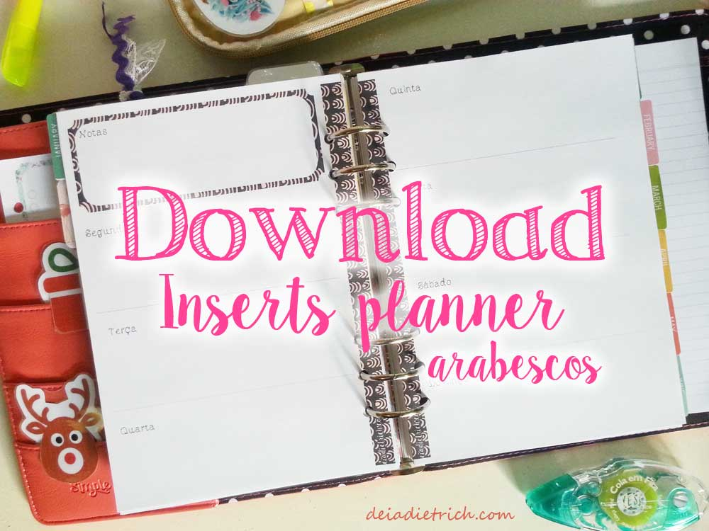 Download – Inserts para planner arabescos – A5 e personal