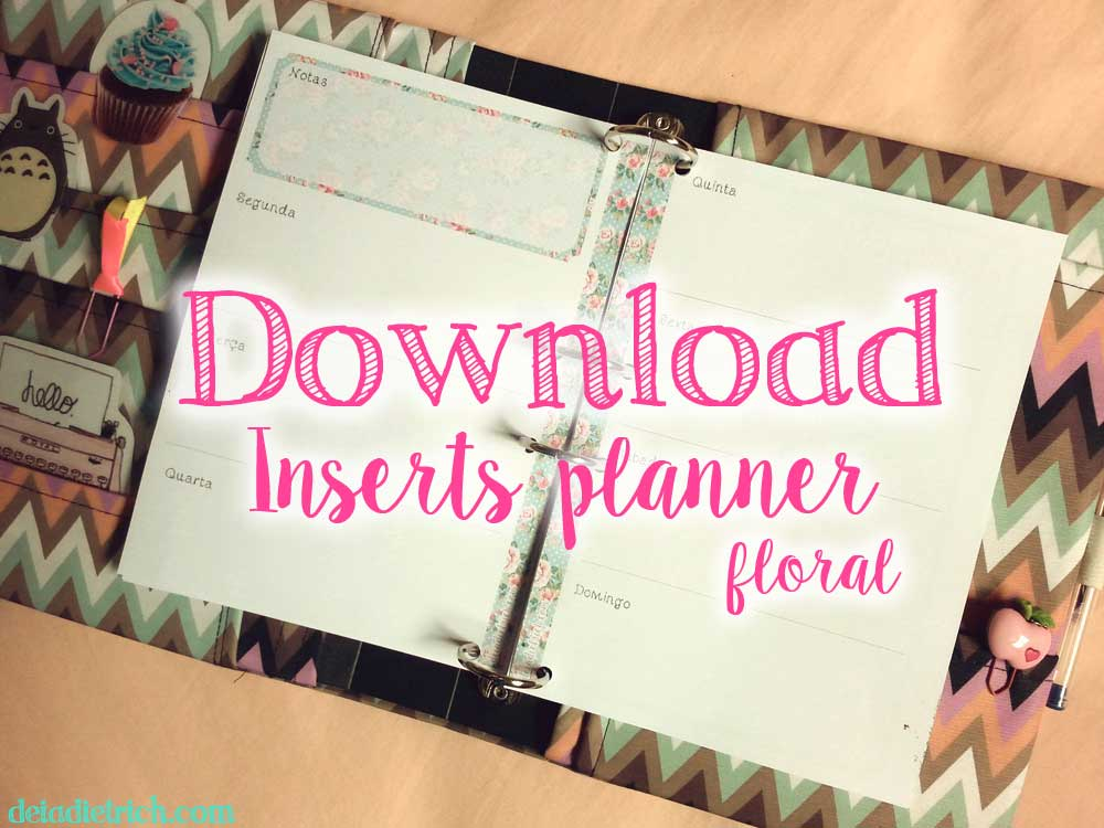 Download – Inserts para planner floral – A5 e personal