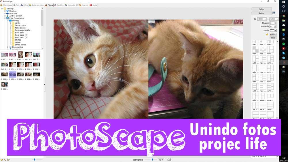 Como edito minhas fotos usando PhotoScape para Project Life