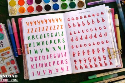 Download – Caderno para treino de brush lettering [A5]