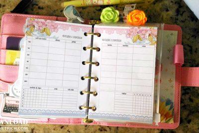 Download – Refeições e exercícios floral [A5, Personal, Pocket, TN, HP] – BEDS
