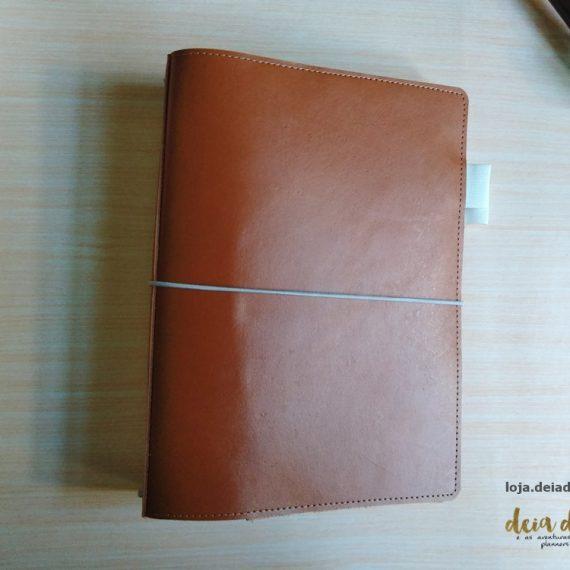 Deiadori A5 – Traveler Notebook – Couro Marrom