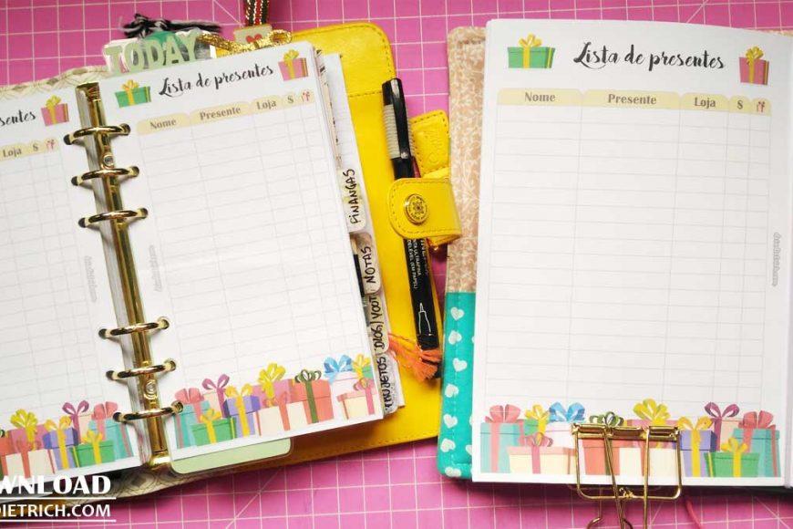Download – Lista de presentes [A5, Personal, Pocket, TN, HP]