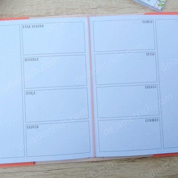 Caderno - Planner semanal híbrido