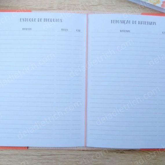 Caderno Artesã - Estoque de produtos e reposição de materiais