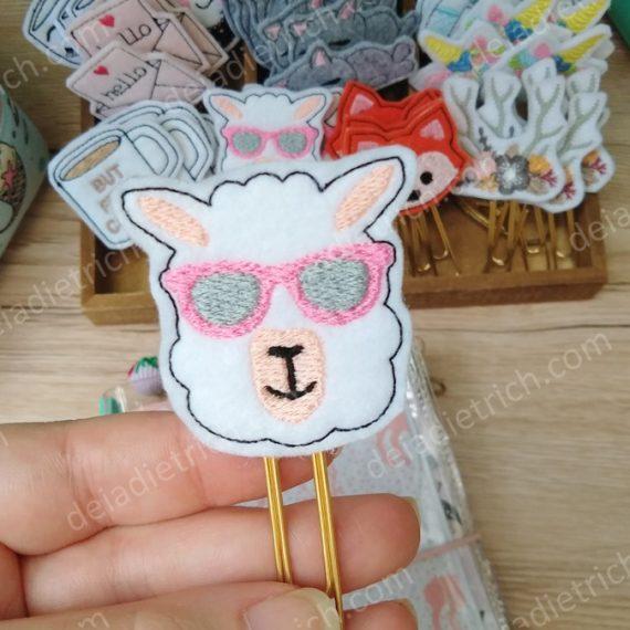 Clips decorados - Lhama
