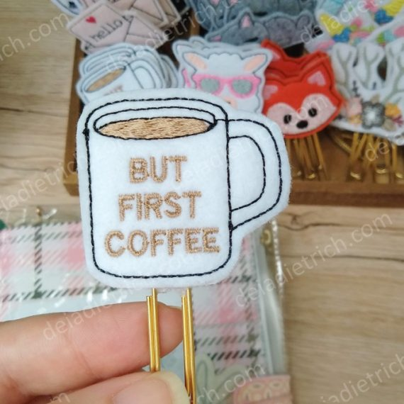Clips decorados - Coffee