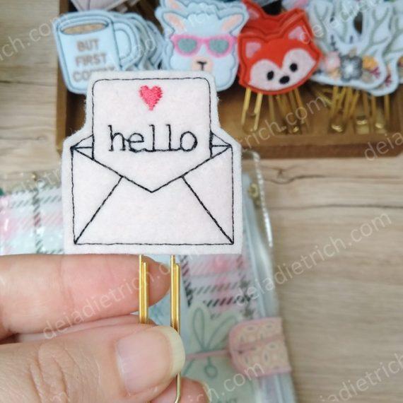 Clips decorados - Hello
