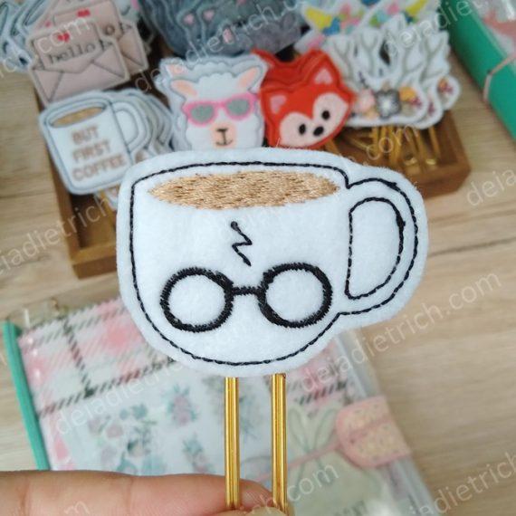 Clips decorados - Caneca Harry Potter